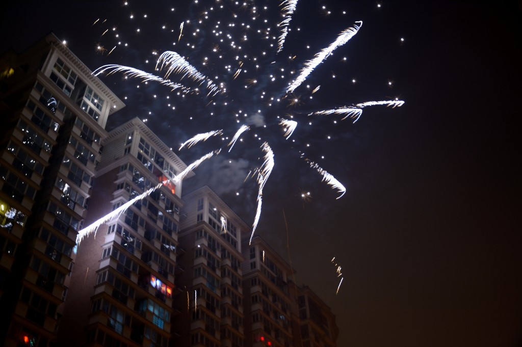 Fireworks in Downtown Beijing