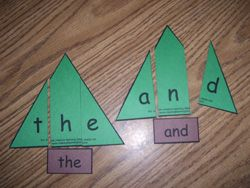 Sight Word Christmas Puzzle