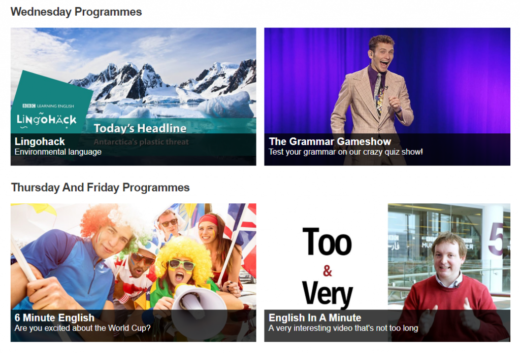 Expand your English with BBC Learning – Features