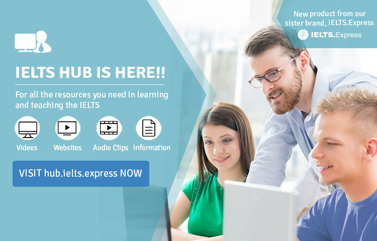 IELTS hub resources for English learning Banner