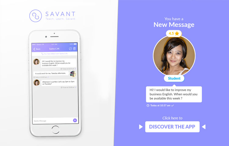 TEFL Savant moble app for teaching english banner