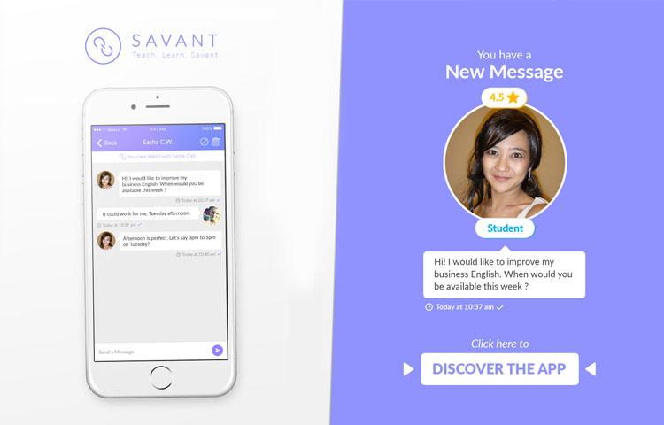 TEFL Savant moble app for teaching english banner