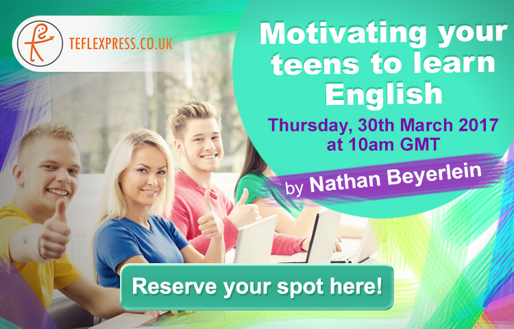 TEFl Webinar Motivating Teens