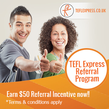 TEFL express referral program